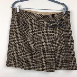 Brown herringbone Pattern Skirt